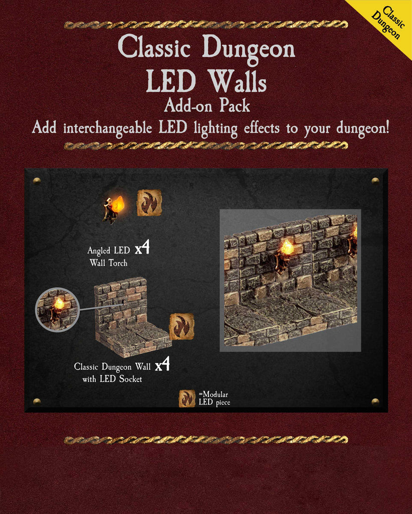 Classic Dungeon LED Walls - Painted