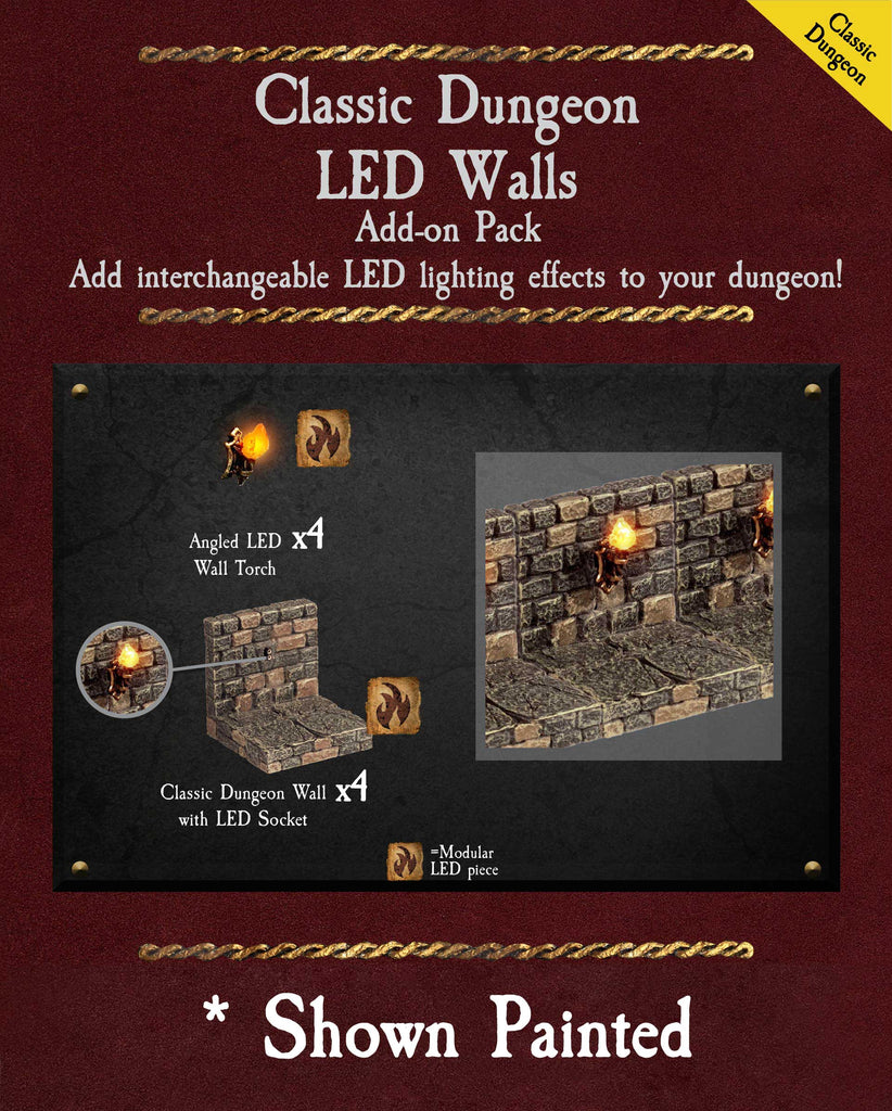 Classic Dungeon LED Walls - Unpainted