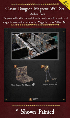 Classic Dungeon Magnetic Walls - Unpainted