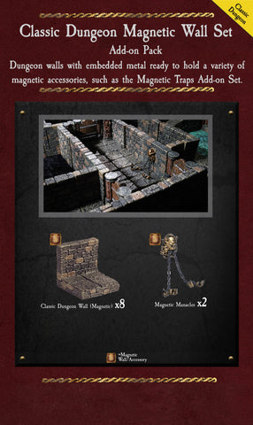 Classic Dungeon Magnetic Walls - Painted