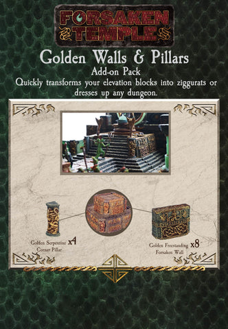 Walls & Pillars - Golden (Forsaken Temple) - Painted