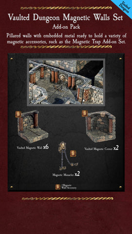 Vaulted Dungeon Magnetic Walls - Painted