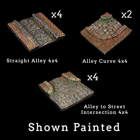 Alleys Add-On Pack - Unpainted
