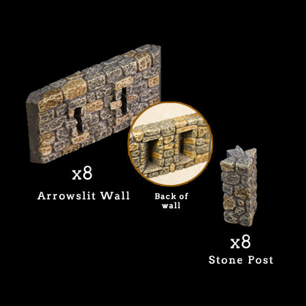 Arrowslit Walls - Painted