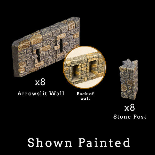 Arrowslit Walls (Unpainted)