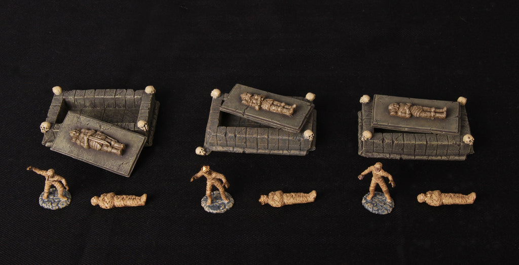 Catacombs Set 2 - Tombs & Mummies - 12 pieces