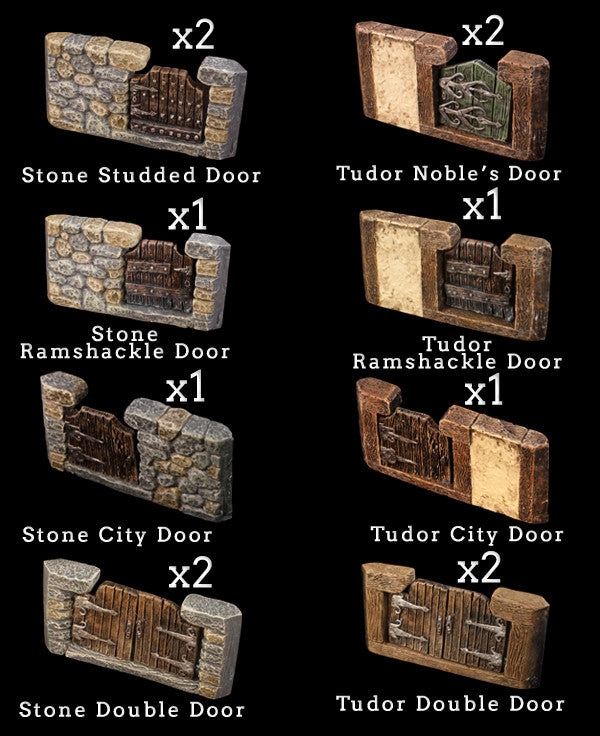 Door Set City Add-On Pack - Painted