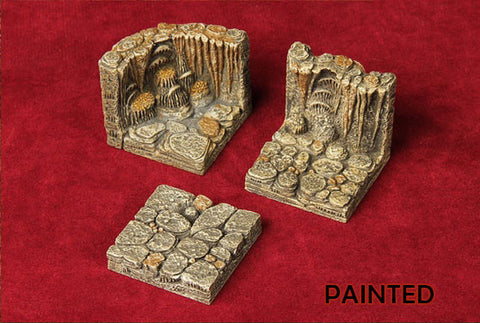 Basic Cavern Set - Standard Walls and Floors (Deluxe Painted) - 26 Pieces