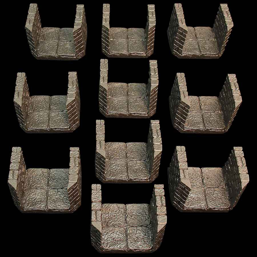 Dungeon Passage Pack #4/Beveled-Flat Edge Combo (Unpainted)