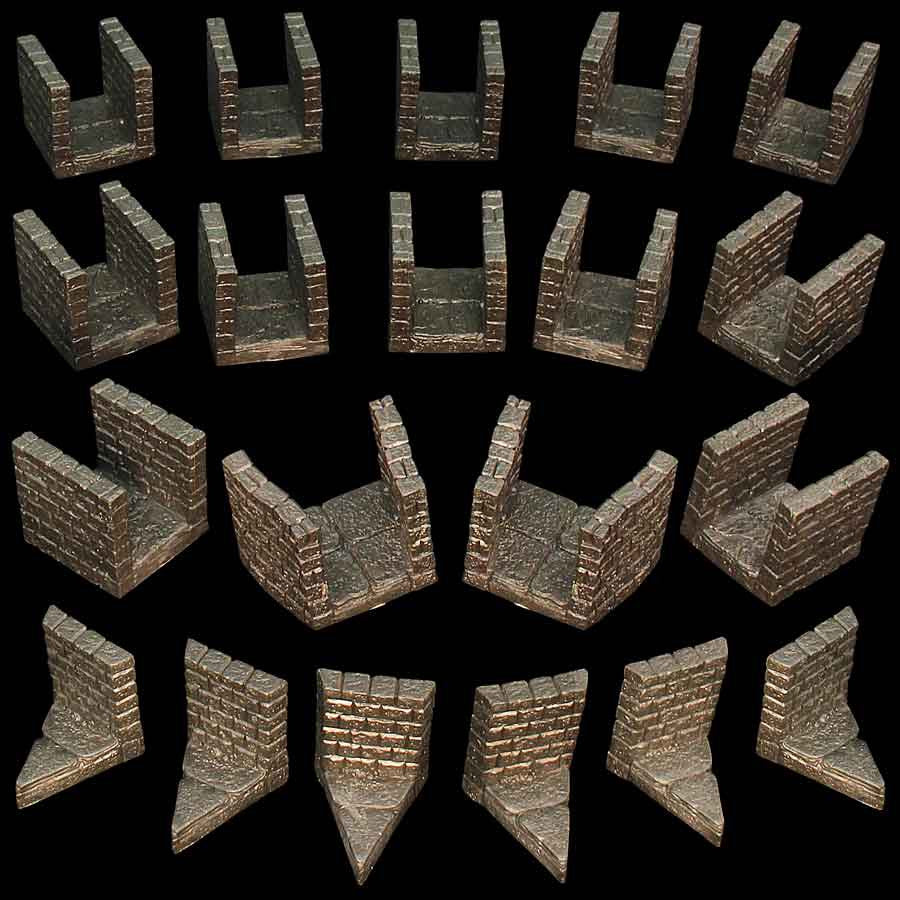 Narrow Dungeon Passage Pack - Unpainted
