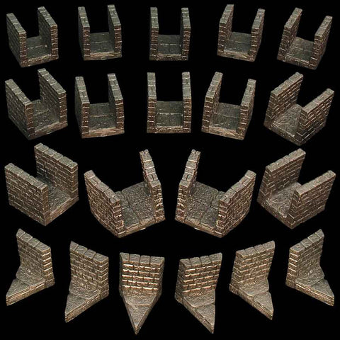 Narrow Dungeon Passage Pack (Unpainted)