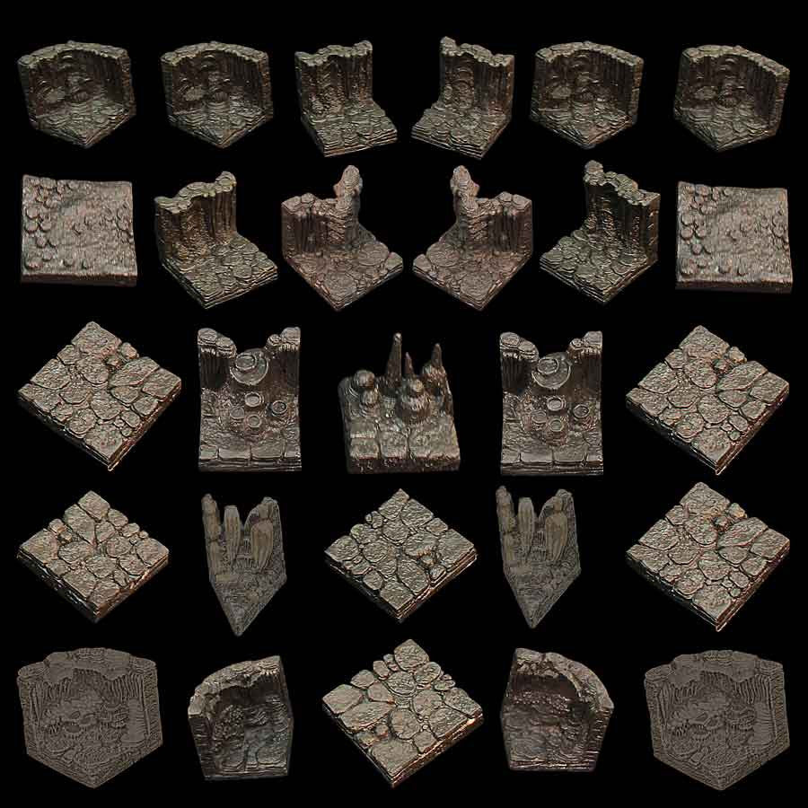 Cavern Set - Varied Walls and Floors (Unpainted)