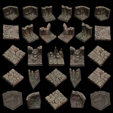 Cavern Set - Varied Walls and Floors - Unpainted