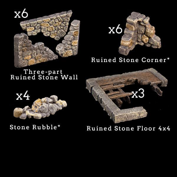 Stone Ruins Add-On Pack - Painted