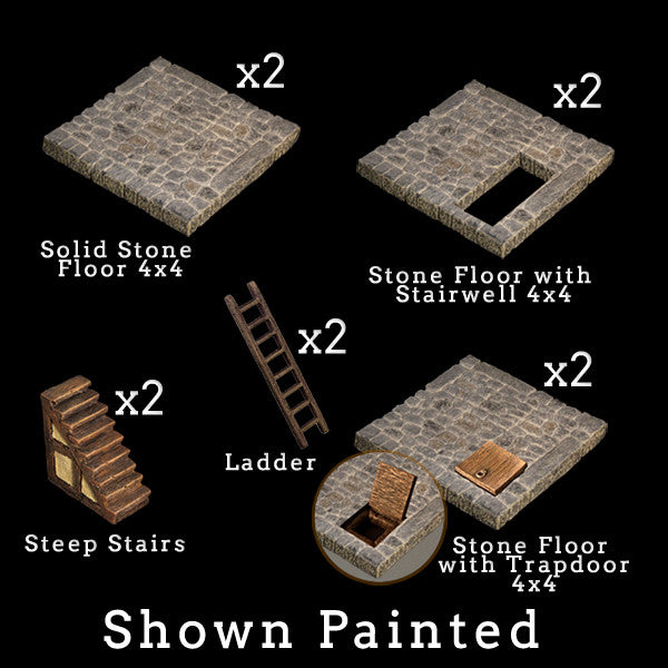 Stone Floor Add-On Pack (Unpainted)
