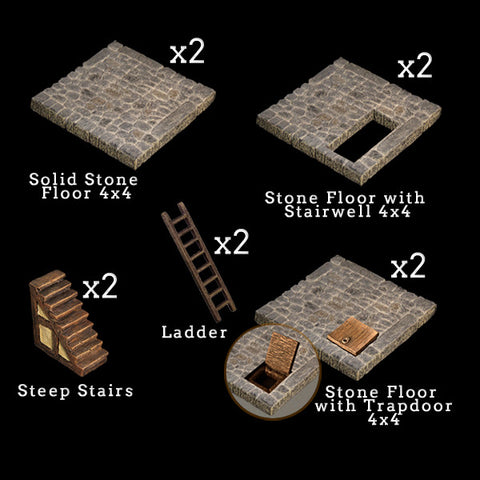 Stone Floor Add-On Pack - Painted