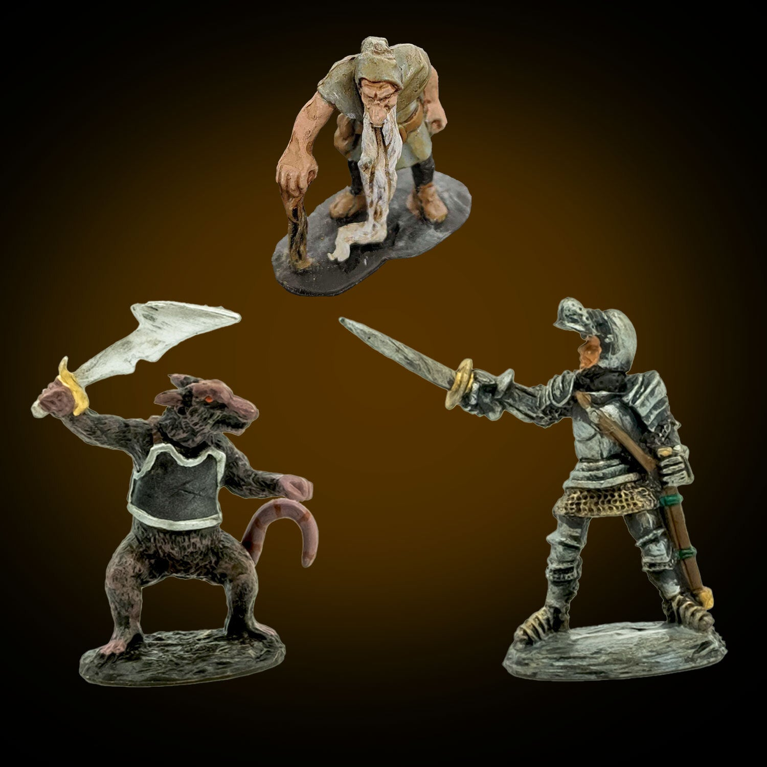 Dwarven Forge painted miniatures