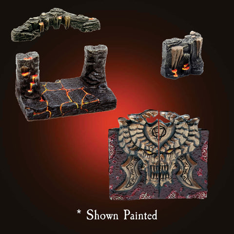 Infernal Cave Door Pack - Unpainted