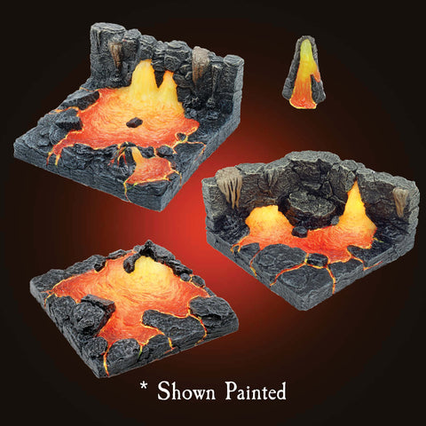 Lava Core Pieces - Unpainted