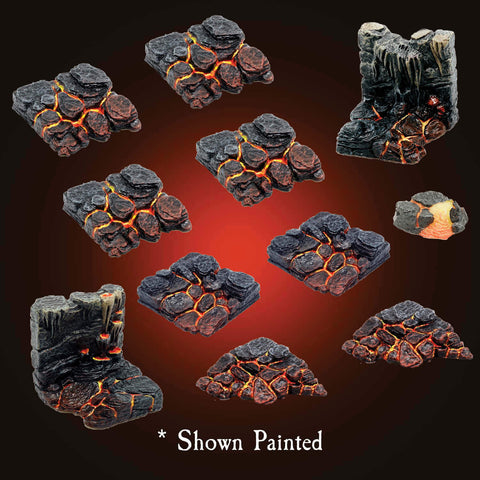 Lava Stone Banks Pack - Unpainted