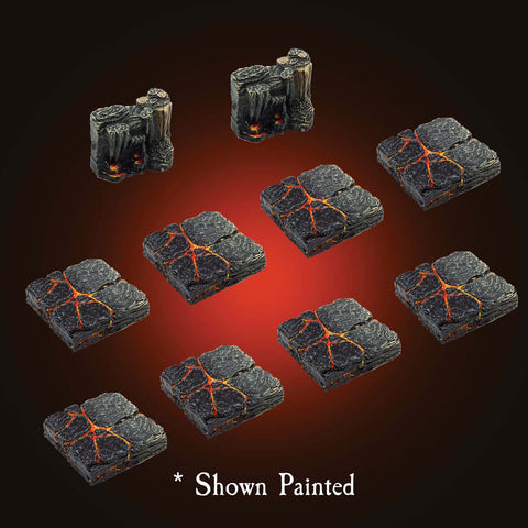 Lava To Caverns Transition Pack - Unpainted