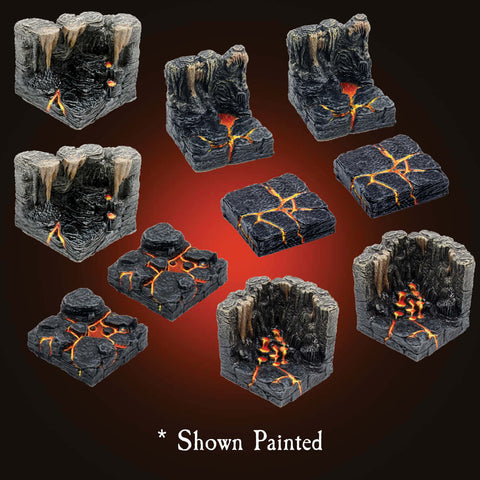 Lava Walls, Floors & Corners - Unpainted