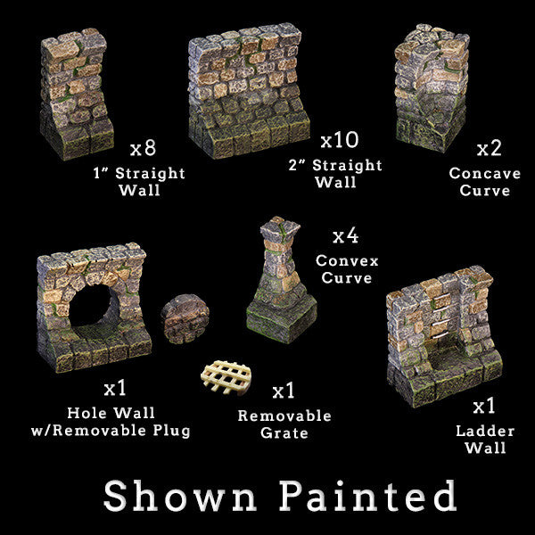 Sewer Wall Add-On Pack (Unpainted)