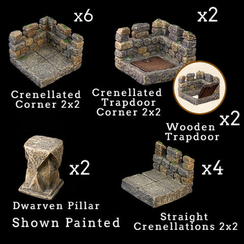 Tower Battlements Add-On Pack - Unpainted