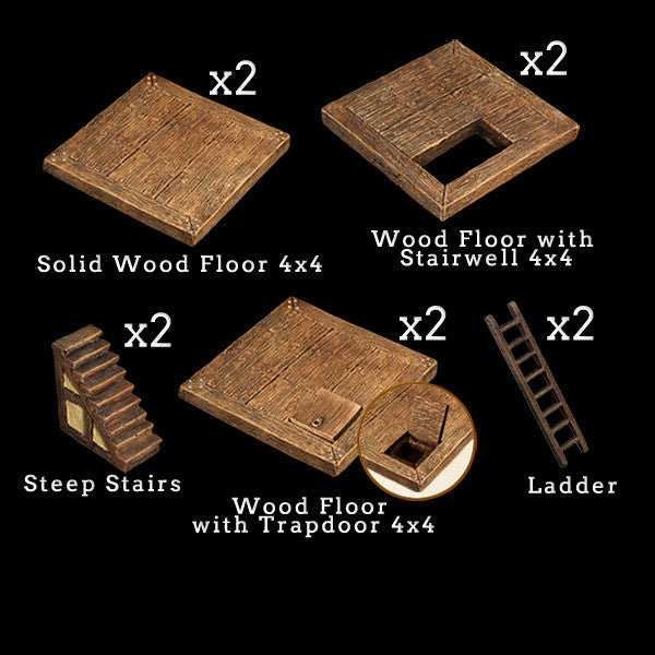 Tudor Floor Add-On Pack (Expertly Hand Painted)