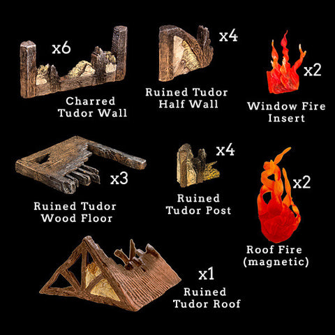 Tudor Ruins Add-On Pack (Expertly Hand Painted)