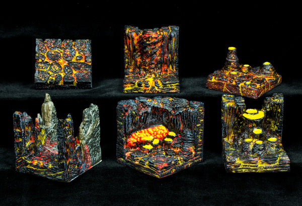 Lava Cavern Pack (Expertly Hand Painted)  RESTOCK COMING SOON