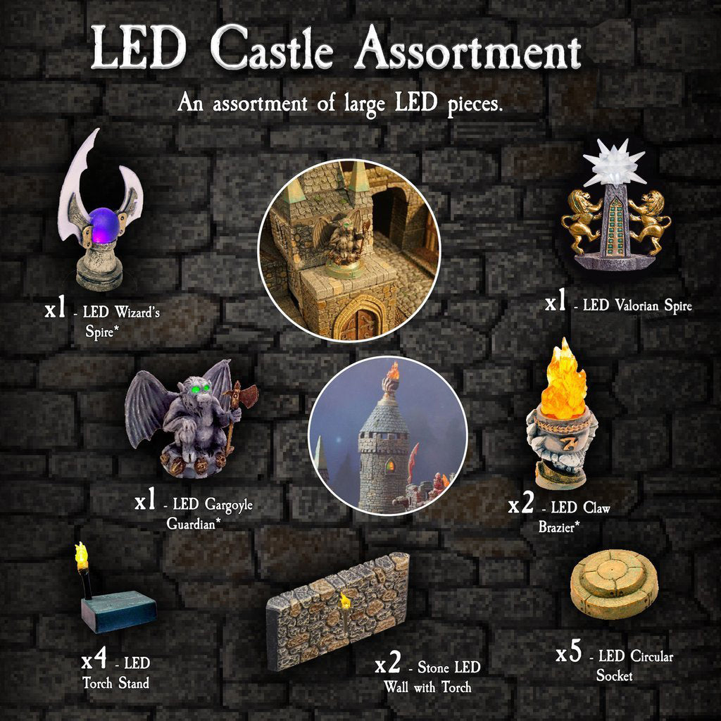 LED Castle Assortment - Painted