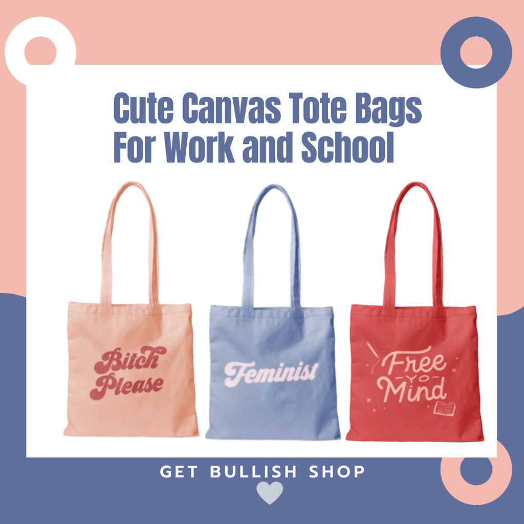 Cute Canvas Tote Bags For Work and School - Only $8.95!