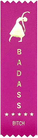 Badass Bitch Prize Award Ribbon on Gift Card