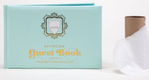 Bathroom Guest Book in Padded Hardcover with Foil Stamping