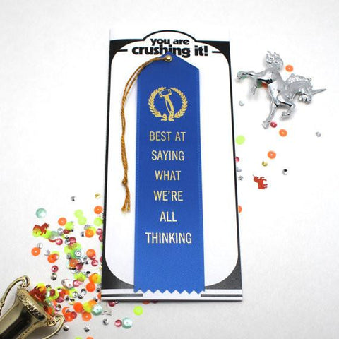 Best At Saying What We're All Thinking Award & Card