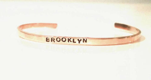 Brooklyn Extra Thin Stacking Copper Cuff - $20.95