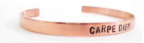 Carpe Diem Cuff Bracelet in Rose Gold - $23.95