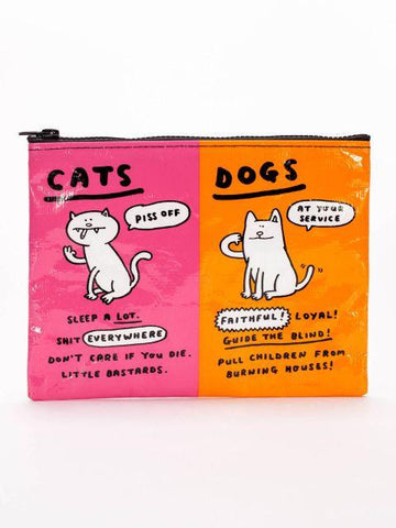 Cats & Dogs Zipper Pouch in Pink and Orange - $6.99