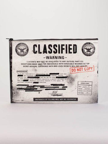 Classified Jumbo Pouch in Black and White - $9.99