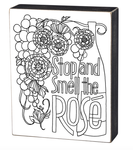 Color it Yourself Mini Stop and Smell the Rose Box Sign