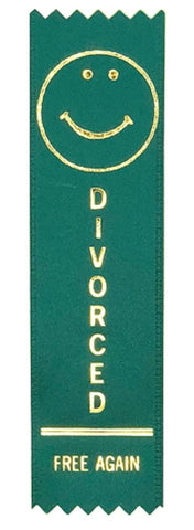 Divorced Free Again Award Ribbon on Gift Card