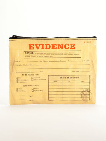 Evidence Zipper Pouch in Recycled Material - $6.99