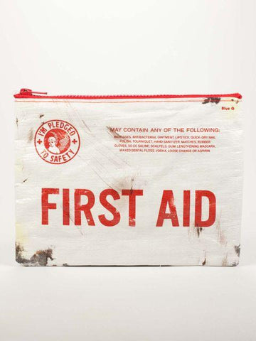 First Aid Zipper Pouch in Red and White - $6.99