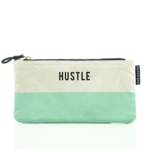 Hustle Small Zip Pouch in Pastel Green - $11.95