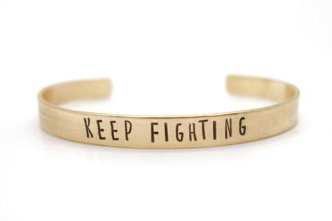 Keep Fighting Cuff Bracelet