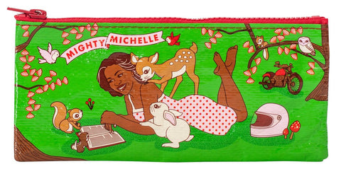 Mighty Michelle Pencil Case in Green and Pink - $5.99