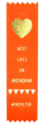 Most Likes On Instagram Award Ribbon on Gift Card
