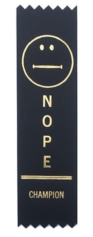 Nope Champion Award Ribbon on Gift Card
