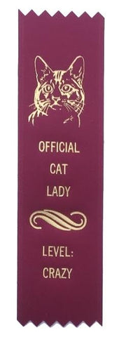 Official Cat Lady Award Ribbon on Gift Card